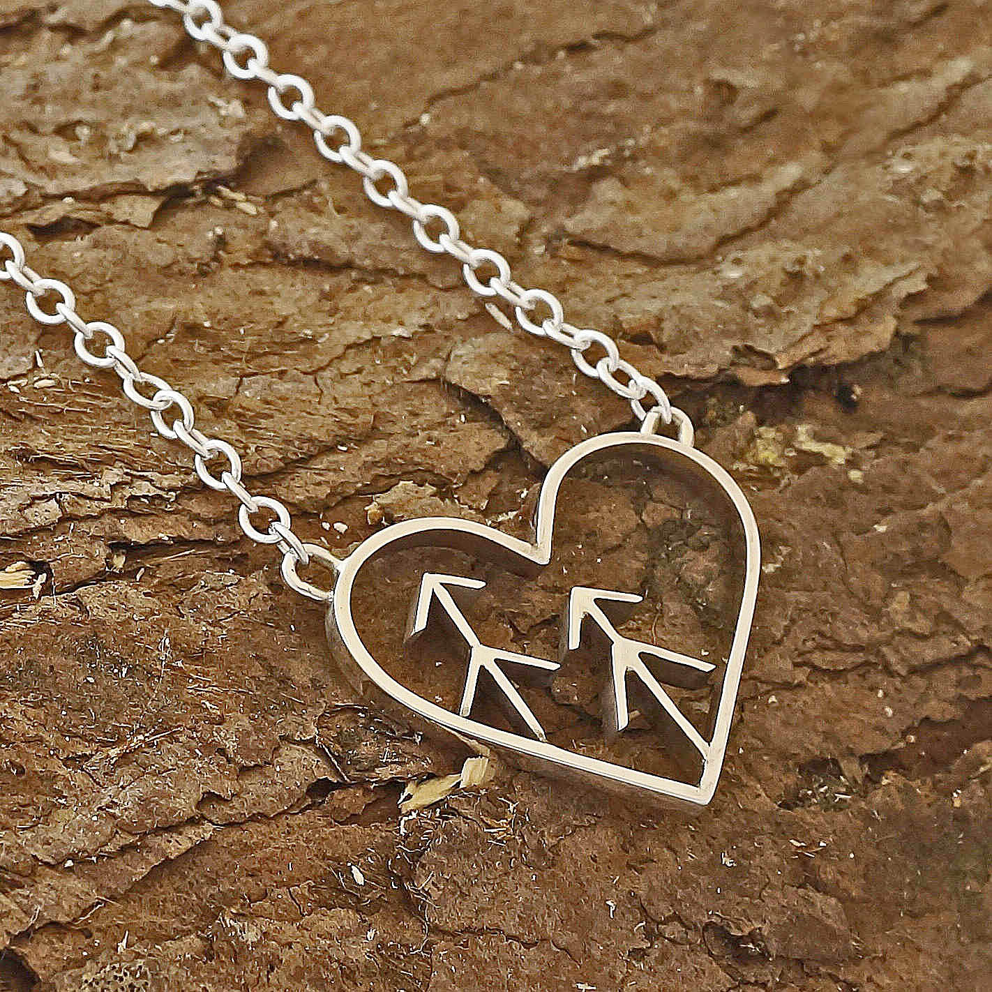 Love the forest tree heart necklace