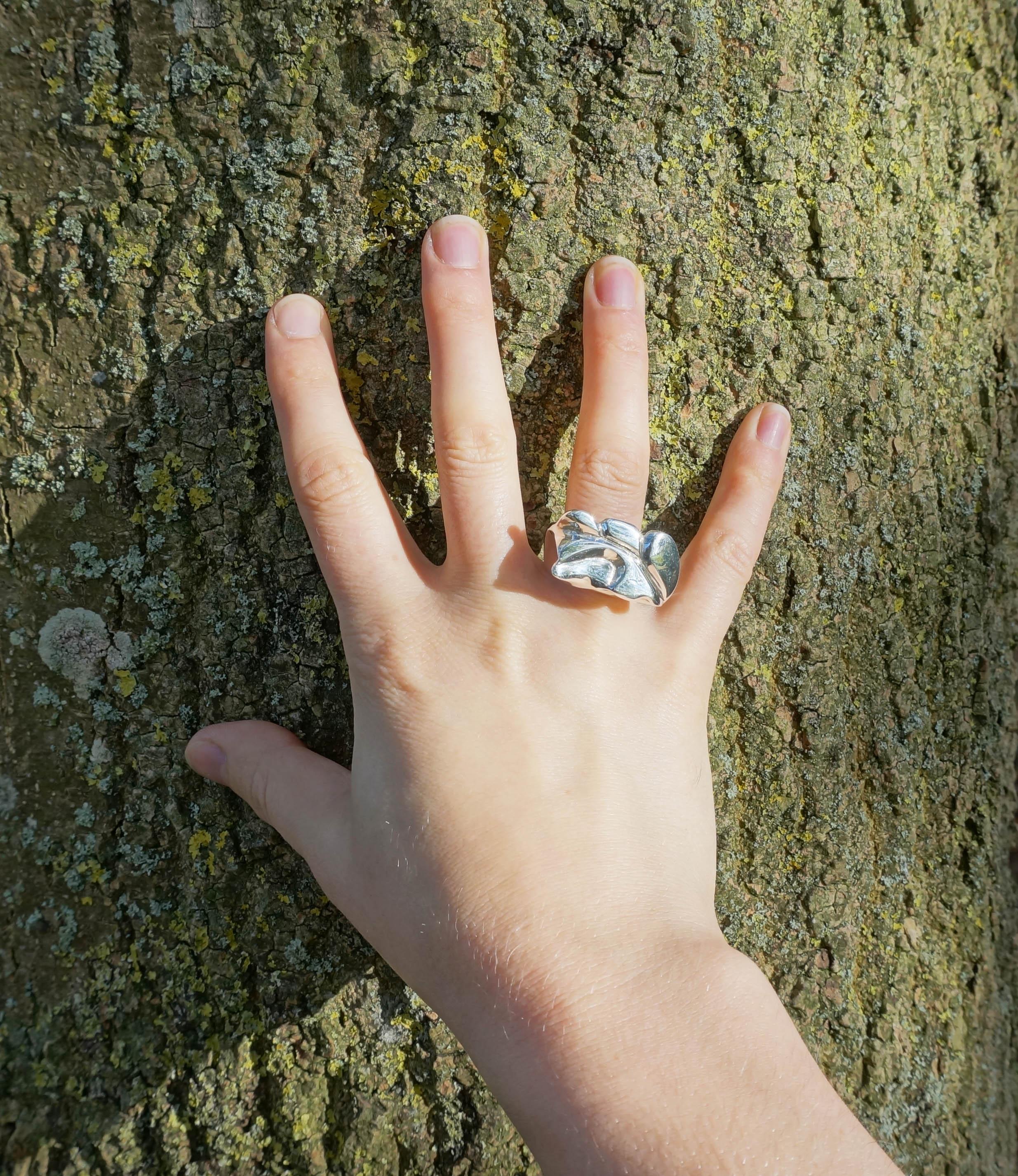 Caverns ring worn 5